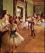 Edgar Degas The Dance Class oil painting artist